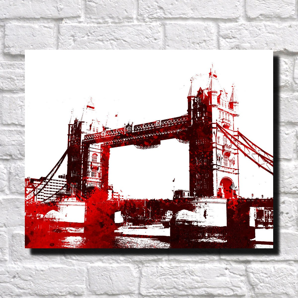 Tower Bridge London City Skyline Print Landscape Poster Feature Wall Art Unmissable! #wallart #towerbridge #londonbridge http://bit.ly/2Pc46X2