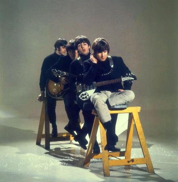 #TheBeatles filming the promotional video of HELP!, 1965