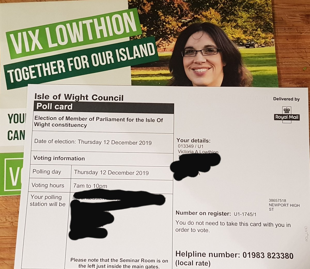 Handed in my nomination papers - now the official candidate for @TheGreenParty to be the next MP for the #IsleofWight . 2nd highest Green vote in the entire UK in 2017 , strong 2nd in MEP elections, @unitetoremain candidate and Conservatives pledging support every day #VoteGreen