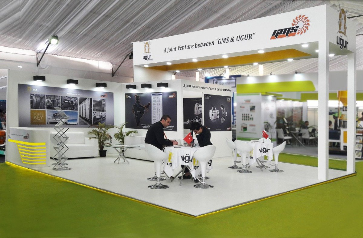 Panache Exhibitions depicted the advanced technologies of Ugur by blending its soothing shades in the world-class fabrication of exhibition stall presented at GrainEx 2019, Bengaluru#Ugur #GrainEx2019 #GrainExIndia #exhibitions #bengaluru #exhibitiondesign #stalldesign