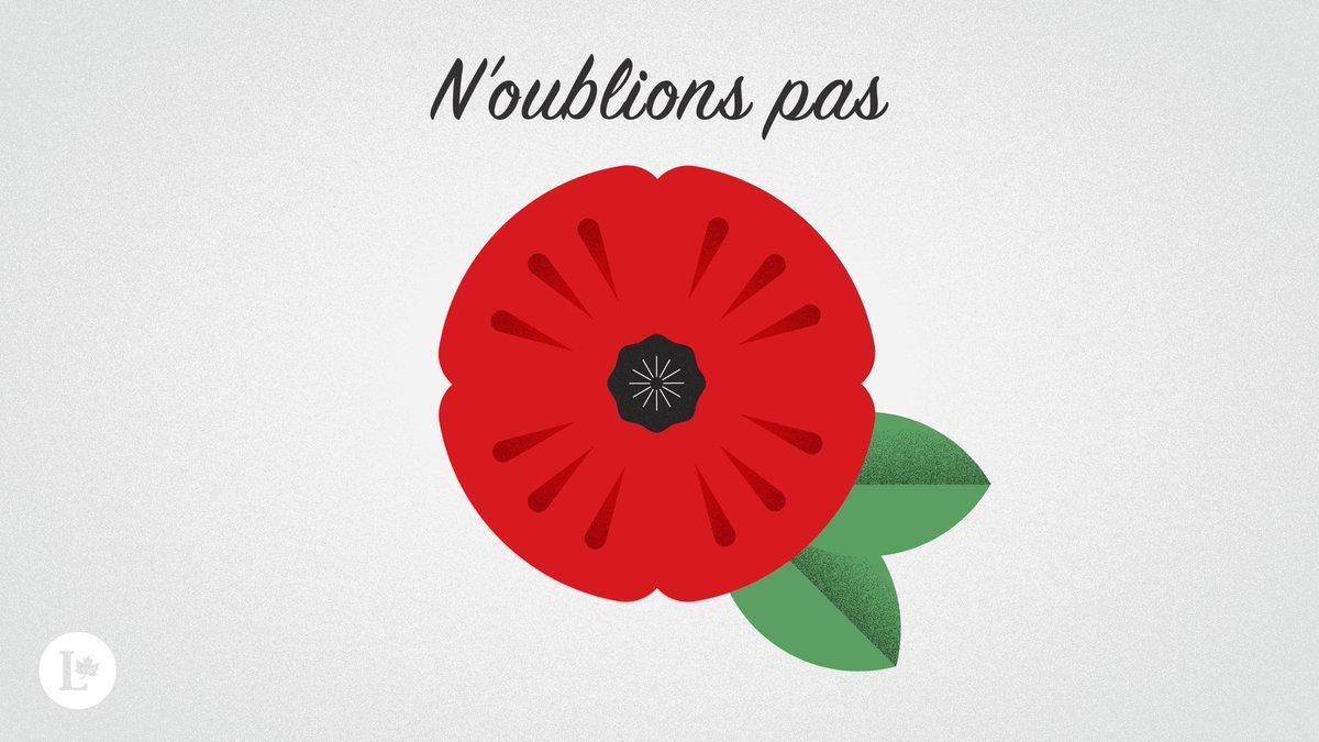 Nous nous souviendrons d'eux. #NoublionsPas #LeCanadaseSouvient