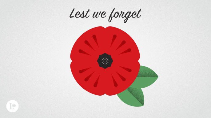 We will remember them. #LestWeForget #CanadaRemembers