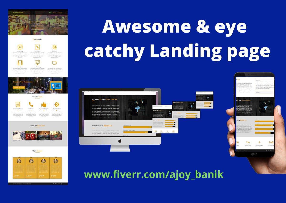 Hi , This is my landing page for one of my client !  #wordpress #landingpage #responsive #elementor  #ecommerce #WebsiteDesigns    https:// bit.ly/2rsxtul    <br>http://pic.twitter.com/kdEHlFqRDz