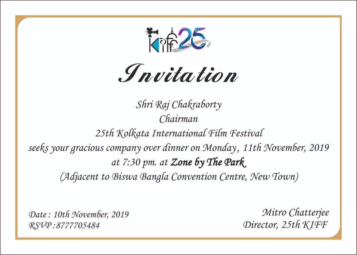 Landed #Kolkata Missed this #KIFF . Thank you @iamrajchoco @silarindam