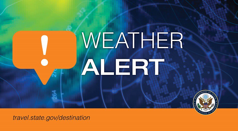 #ElSalvador:  U.S. Department of Defense aircraft observed a possible tsunami about 600 miles from the El Salvador-Nicaragua border. If in the area, move to higher ground. Monitor information from Proteccion Civil and MARN for road and school closures. https://sv.usembassy.gov/weather-alert-u-s-embassy-san-salvador-el-salvador-november-11-2019/…