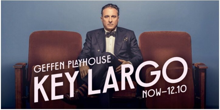 @GeffenPlayhouse Fireworks performances, a cool set and exciting bang bang theatrics make KEY LARGO with Andy Garcia a fun escapist entertainment. The gangster play is smartly adapted, jazzing it up while kicking it old school. If you're a fan of the Bogart movie, it's a treat!