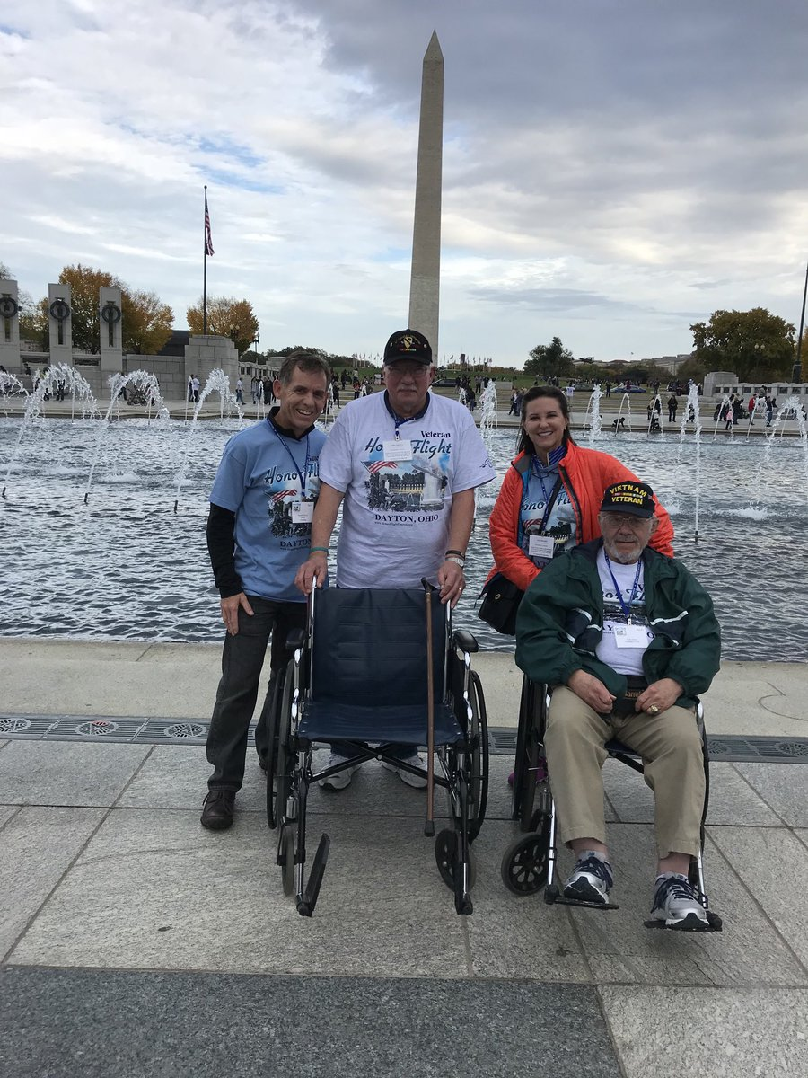 test Twitter Media - Randy and I with  two of our favorite Veterans, Frank and Lyle, during the #honorflight Dayton 2017 event. Wonderful men and soldiers! #VeteransDay https://t.co/orTOGhAvLa