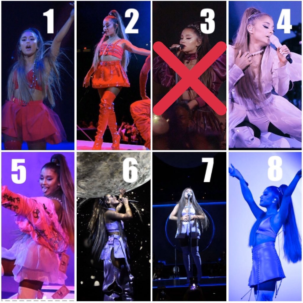 SWEETENER TOUR OUTFIT ELIMINATION GAME   OUTFIT 13 IS OUT   keep voting for the outfit you want out!!  also y'all are tasteless smh <br>http://pic.twitter.com/eTVW87gg95
