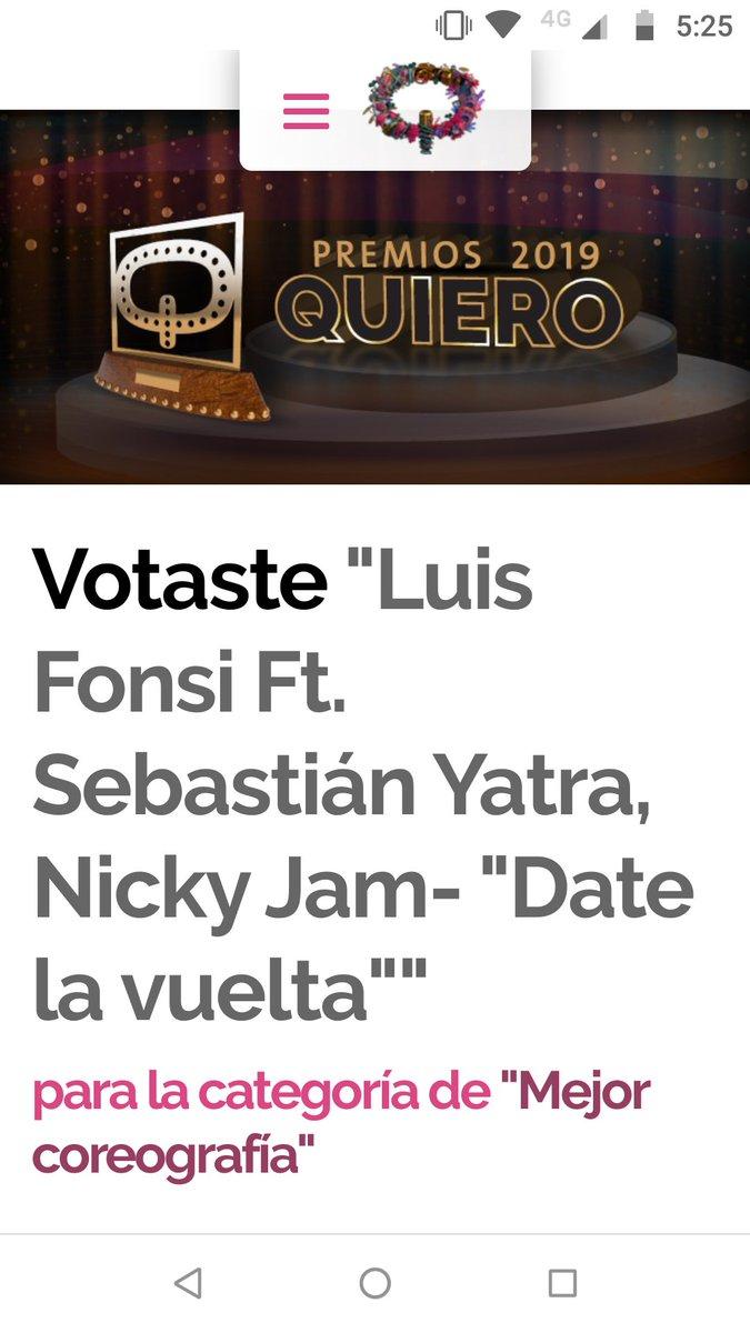 Votado!!🙌🏻 #DateLaVuelta como #MejorCoreografía en los #PremiosQuiero2019!! @FFieles_Rosario