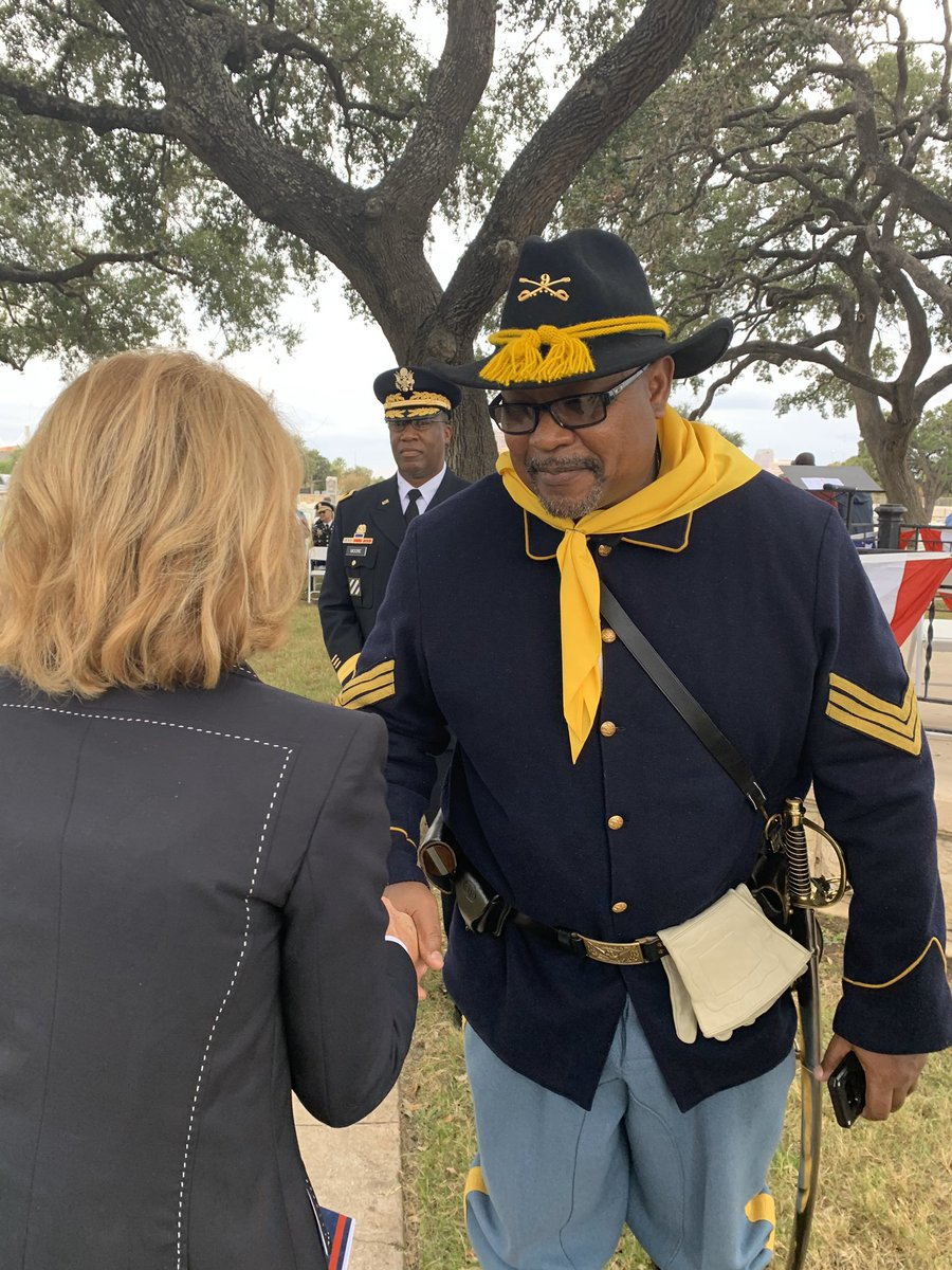 Celebrating the legacy of service and sacrifice made on behalf of this country by our Buffalo Soldiers. Their legacy is carried on today by groups like the Bexar County Buffalo Soldiers, who today held a commemorative ceremony in the San Antonio National Cemetery. #VeteransDay