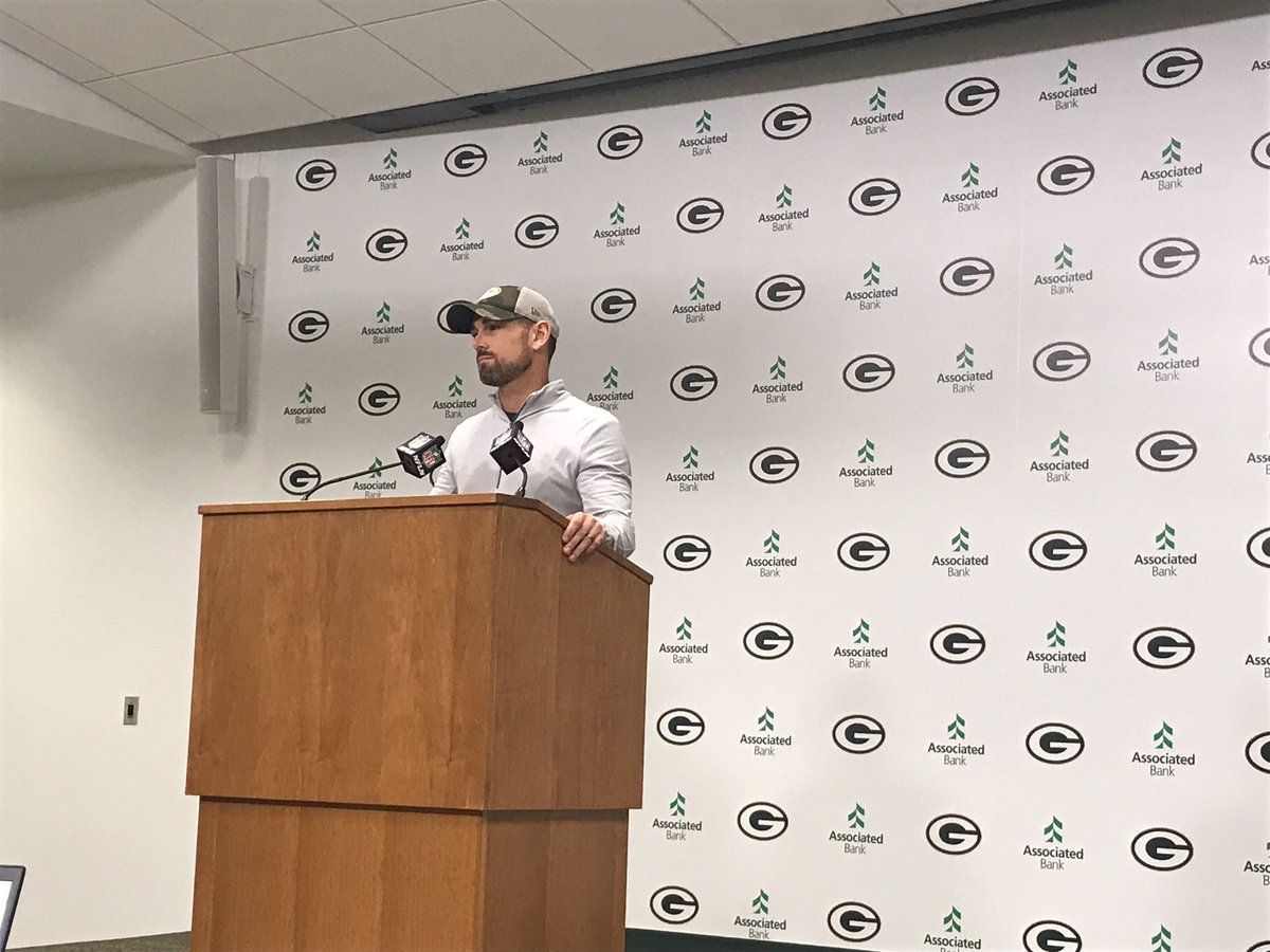 """Matt LaFleur's younger brother, Mike, is the 49ers passing game coordinator. Matt's wife and kids are staying with him for a couple days before Packers at 49ers in two weeks.  """"Hopefully she can do some recon for us."""""""