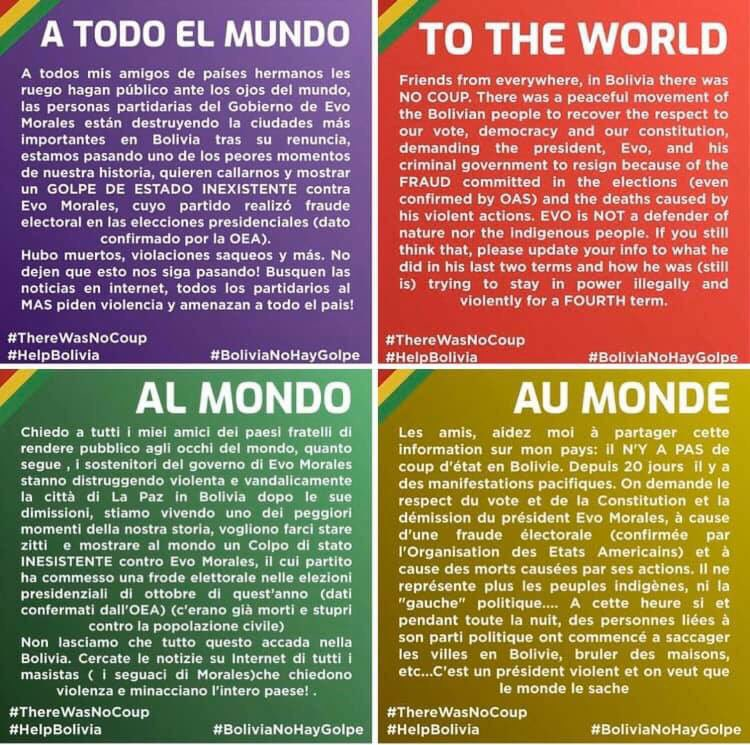 Please share #BoliviaNoHayGolpe #SOSBolivia <br>http://pic.twitter.com/t7bRofRuGr
