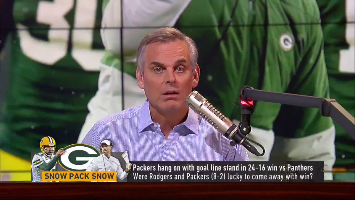 """The Packers held on Sunday, but @ColinCowherd wasn't impressed:   """"Situationally, Green Bay yesterday was below average... You're not beating San Francisco if you're subpar."""""""