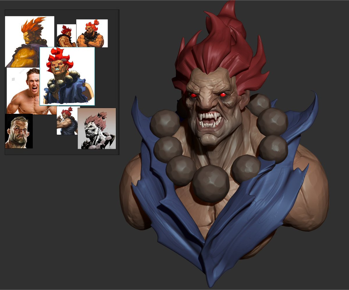 trying to keep things angular , its fun sculpting this style <br>http://pic.twitter.com/V1IdkCJnl8