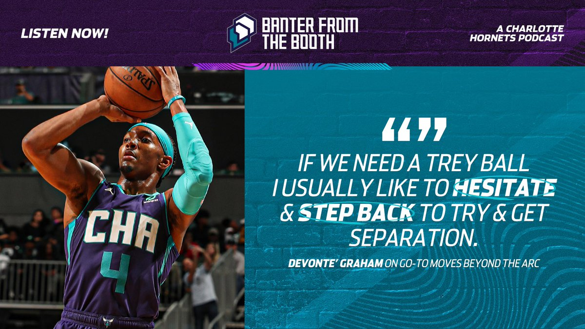 When you ask for 3️⃣ Tae, you get 3️⃣Tae!  Check out @JWFOCKE's latest episode of Banter From the Booth with @Devonte4Graham   🎙: http://bit.ly/32C8SQD  #AllFly