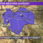 Image for the Tweet beginning: A Winter Weather Advisory has