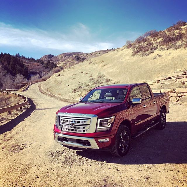 """Back in beautiful Park City, Utah to drive a truck inspired by a """"Powerful Warrior"""". The 2020 #NissanTitan certainly looks bolder this year. It also gets more muscle under the hood (400 HP) from its 5.6L V8. Full review coming on 11/15 at 7am EST."""