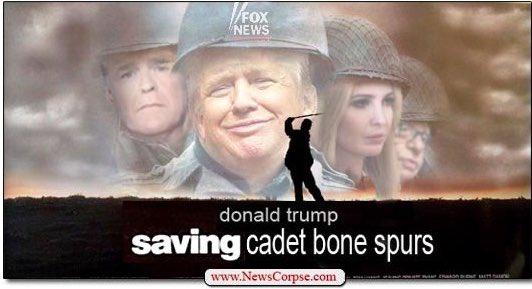 Replying to @_lynnwolf_: @TeamTrump @realDonaldTrump #CadetBoneSpurs #FakePresident