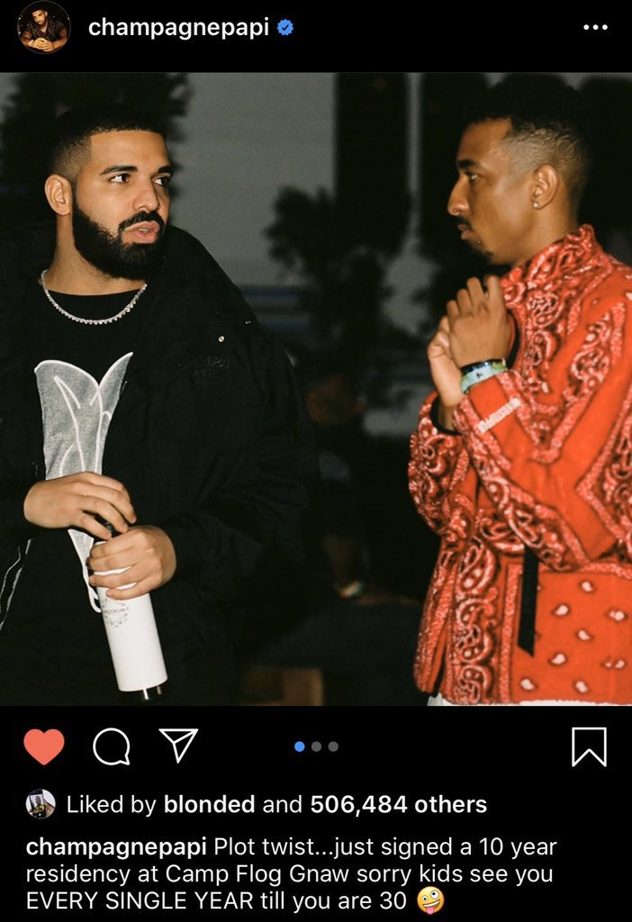 Drake has responded to getting boo'd at Camp Flog Gnaw on instagram  Frank Ocean liked the post <br>http://pic.twitter.com/jl7WncFqfK