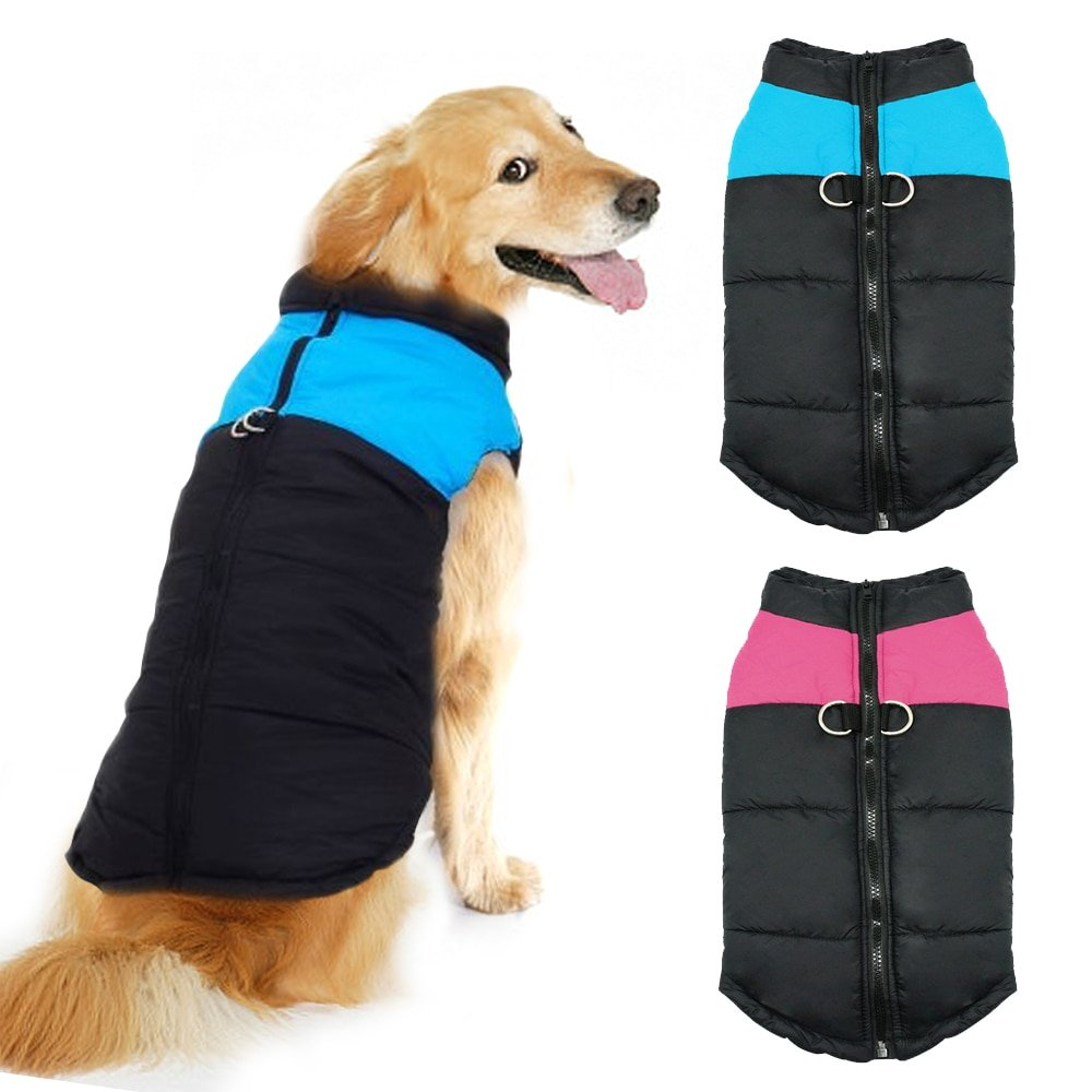 #love #nature Dog's Waterproof Zipper Vest
