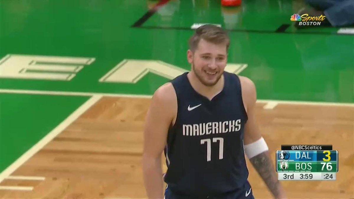 Luka hit em' with the MJ shrug 🤷‍♂️