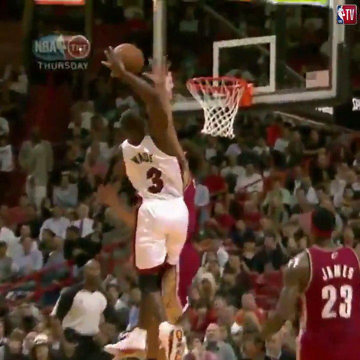 MY GOODNESS. ⚡️  #OTD 10 years ago, @DwyaneWade threw down one of the most memorable dunks in league history.