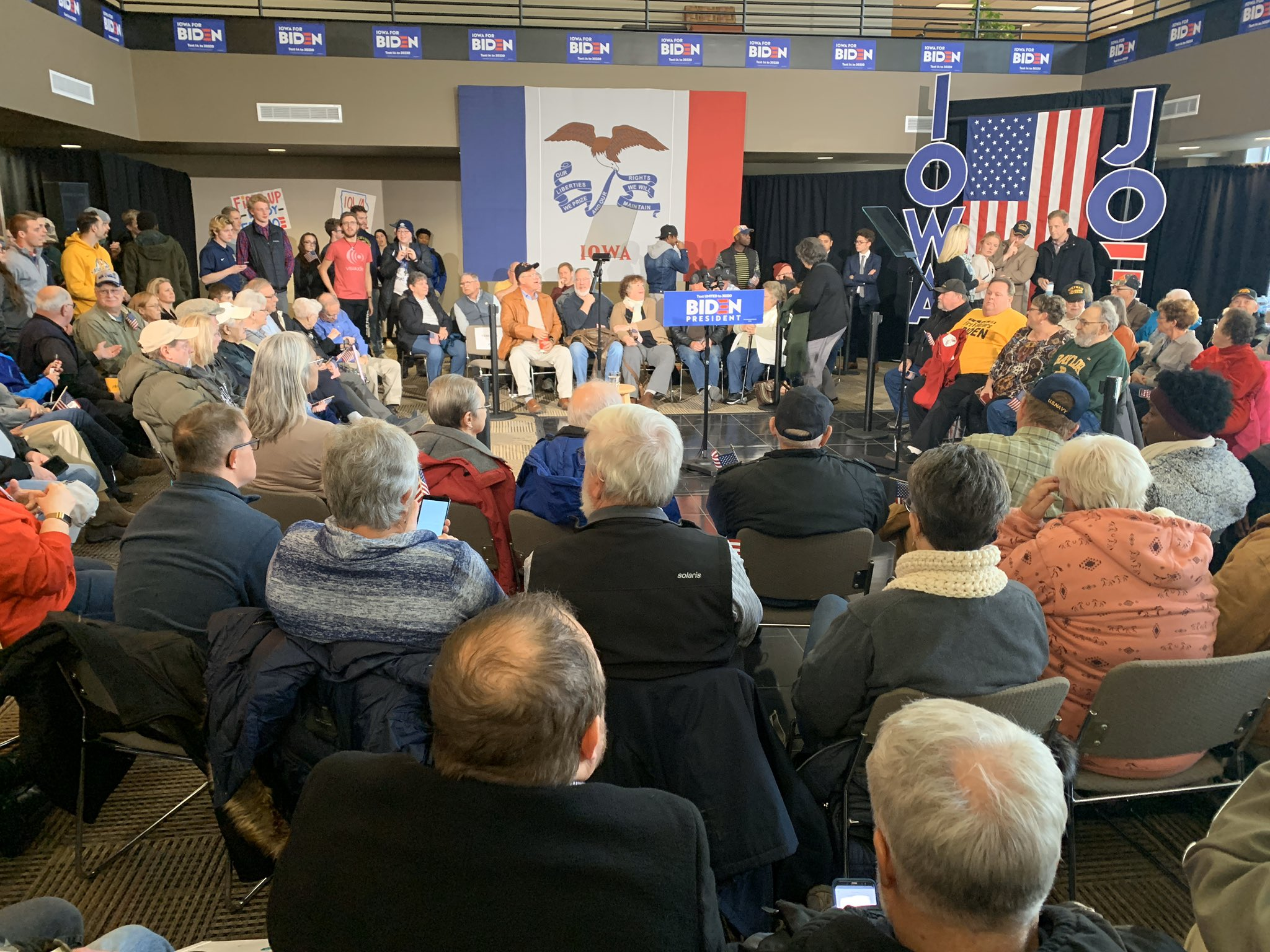 If Biden held a veterans town hall and only 50 people showed up, would anyone even notice?