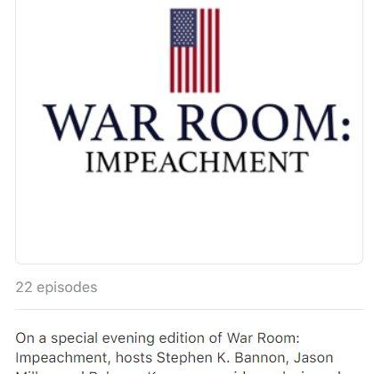 war room impeachment podcast