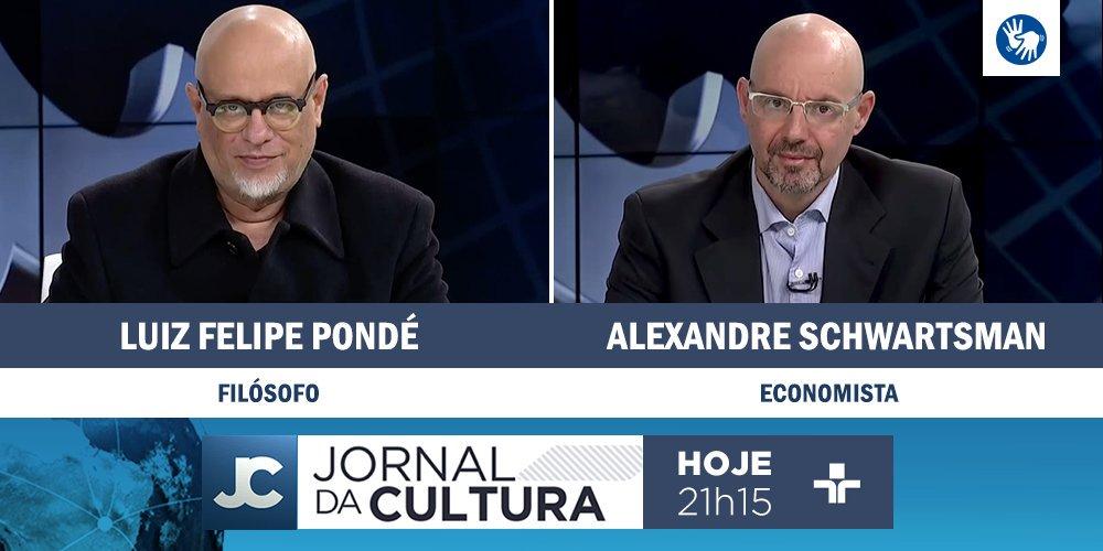 DAQUI A POUCO: @KarynBravo recebe os comentários do filósofo @lf_ponde e do economista Alexandre Schwartsman. Às 21h15. #JornaldaCultura