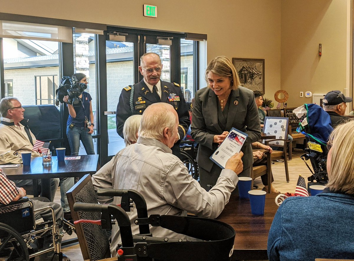 Today, I joined Nevada veterans, service members, and their families at the Northern Nevada State Veterans Home to honor their many contributions to our state and country. #HappyVeteransDay to all who have served. Thank you for your service.
