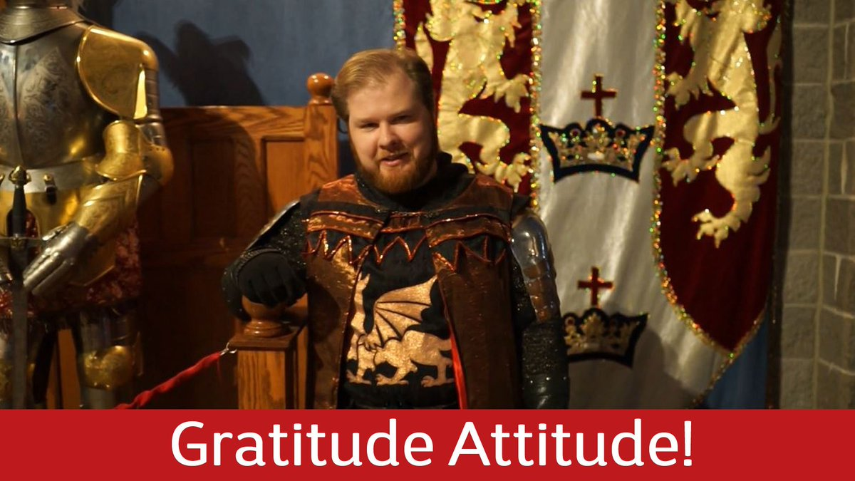 Want to hear why our Lord Marshal is thankful to work in the 11th century?  Visit our Facebook page to watch the full video! #GratitudeAttitude <br>http://pic.twitter.com/pBVdwuM8Yk