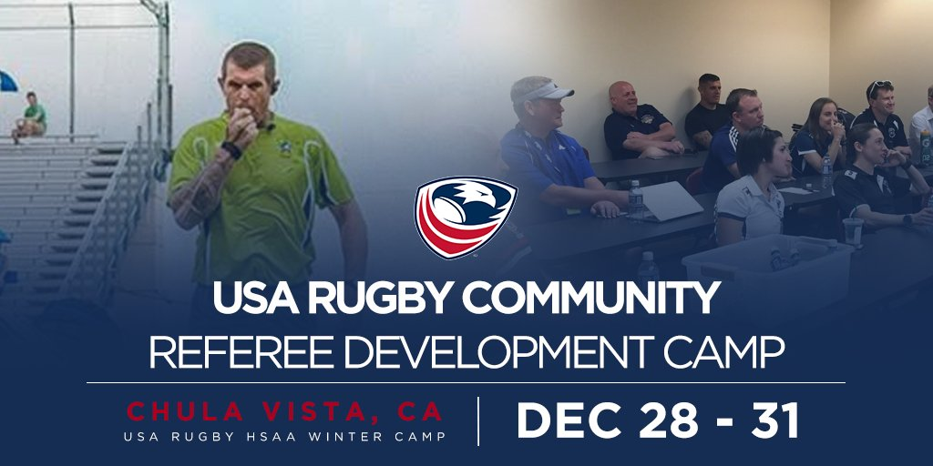 Pick up a whistle📣 Join the USA Rugby Winter Camp for exclusive referee courses, seminars and All-American matches. REGISTER » usarug.by/2NDflqj