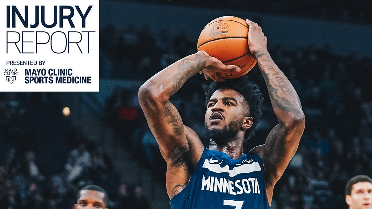 Tonight's @mayoclinicsport Injury Report:  Jordan Bell (right shoulder sprain), Jeff Teague (illness), and Shabazz Napier (right hamstring strain) are OUT at Detroit. https://t.co/SaF6XVWcHD