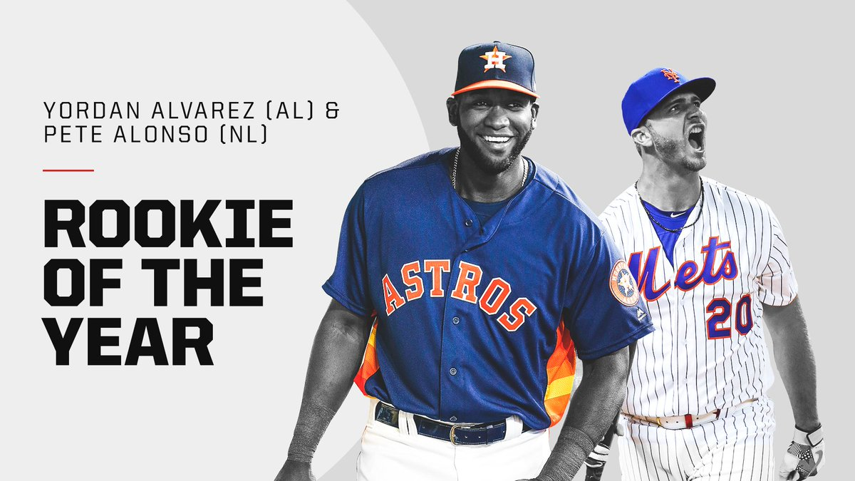 Yordan Alvarez and Pete Alonso win AL and NL Rookie of the Year 🔥