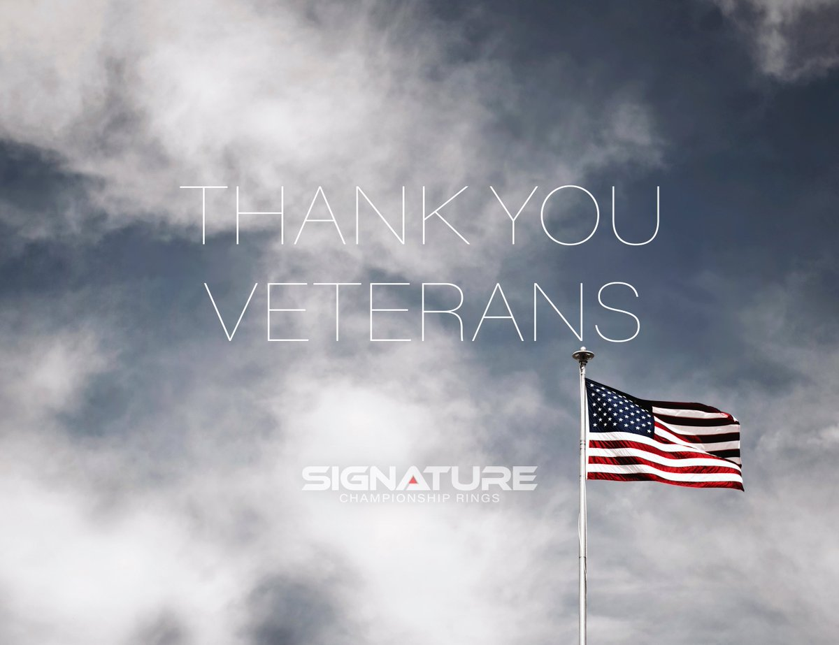 Thank you for your service, from everyone here at Signature Championship Rings! 🇺🇸 #VeteransDay2019