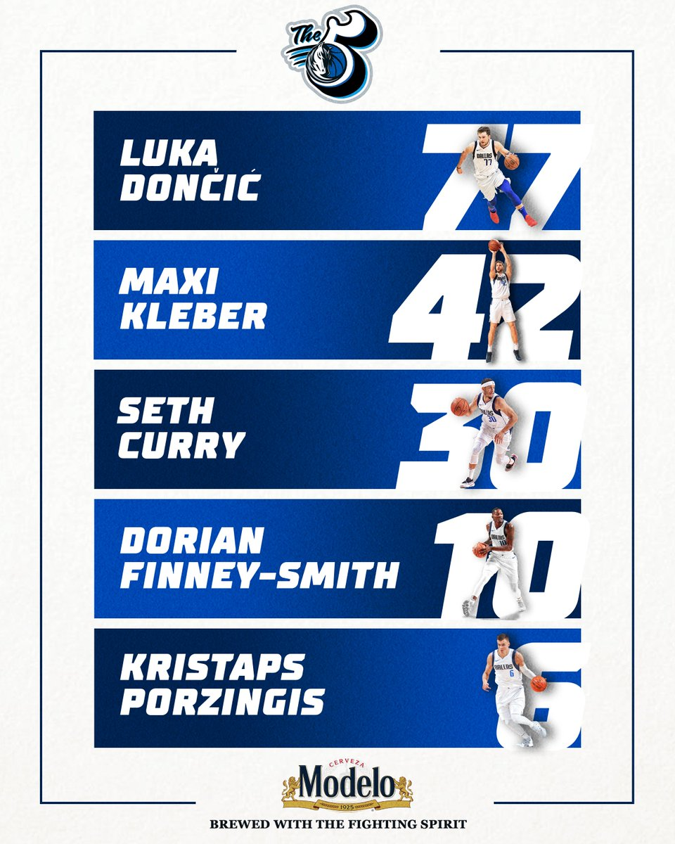 Tonight's starting five as the Mavs meet the Celtics in Boston! Tune in on @FOXSportsSW for the early 6:30 tip! #MFFL   #FightingSpirit   @ModeloUSA