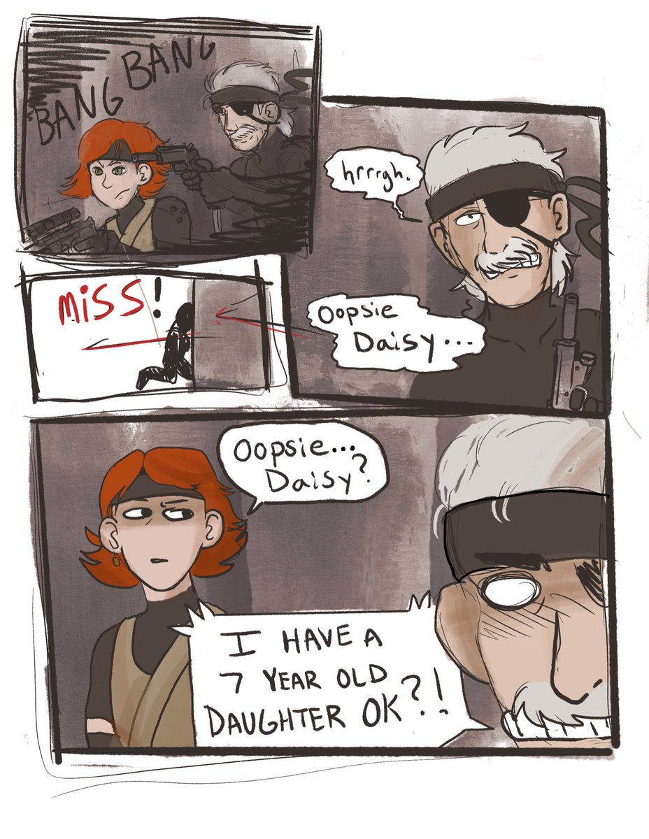 #MGS4 comic Dad Snake! Dad Snake! Dad Snake! <br>http://pic.twitter.com/h6tf2mzxZx