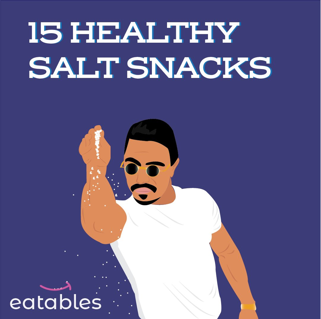 Whats your favorite salty snack??⁣ ⁣ New blog post with our top 15. Click below:   https://eatables.co/blogs/the-eatables-blog/15-healthy-salty-snacks  … ⁣ #Eatables  #Salt  #snacks  #salty  #SnacksAsAService  #OfficeSnacks  #SaltBae  #Health  #fitness  #Healthy  #HealthySnacks  #snackstagram
