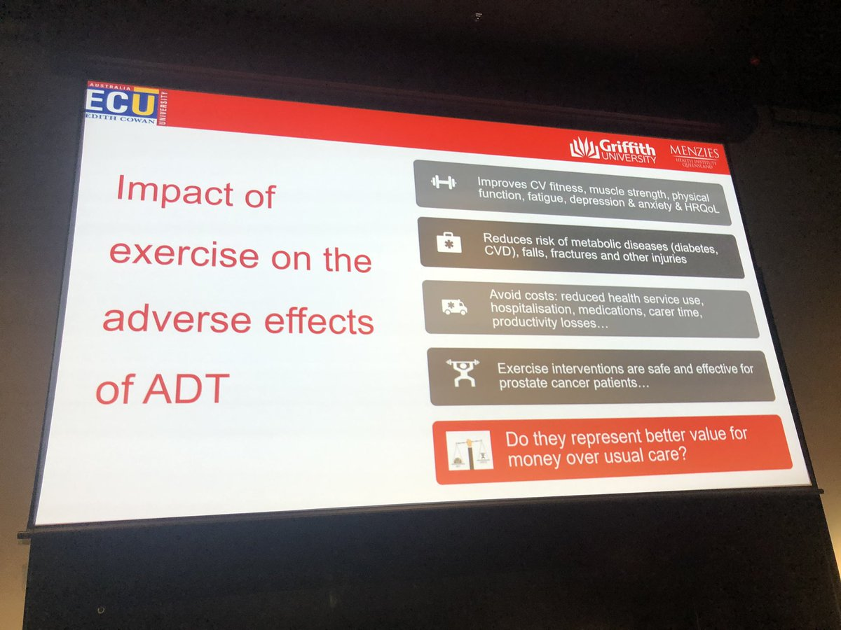 Edmunds impact of #exercise  in men with #PCSM  treated with #ADT  #COSA19  #exercise  #OzOnc