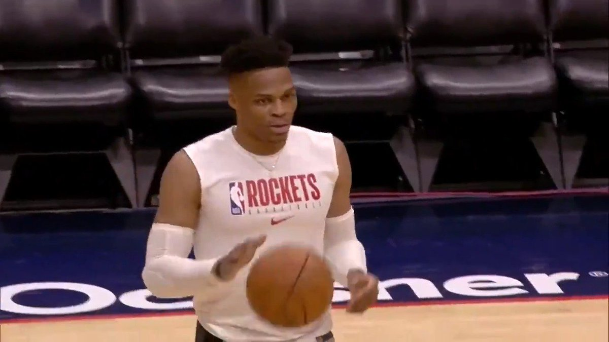 Russell Westbrook getting ready for @HoustonRockets / @PelicansNBA (8:00pm/et)! #OneMission   📺📱💻 Watch on NBA League Pass ➡️ http://nba.app.link/leaguepass2   Music by @unitedmasters