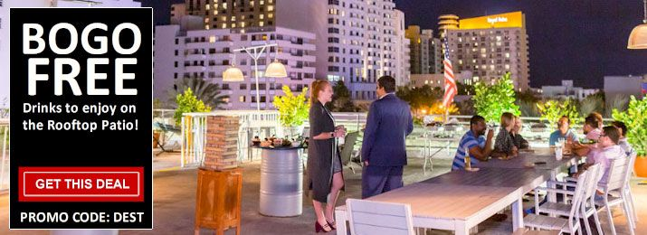 Buy 1, Get 1 Free Drink at this #SouthBeach  Rooftop Bar  https://buff.ly/2CB277k   Lounge around on the comfortable sofas or play fun games, or sip on a drink while enjoying the beauty of #MiamiBeach ! #Miami  #Coupons  #Groupon  #CouponCodes  #PromoCodes  #Deals  #Cheap  #Coupon  #Florida