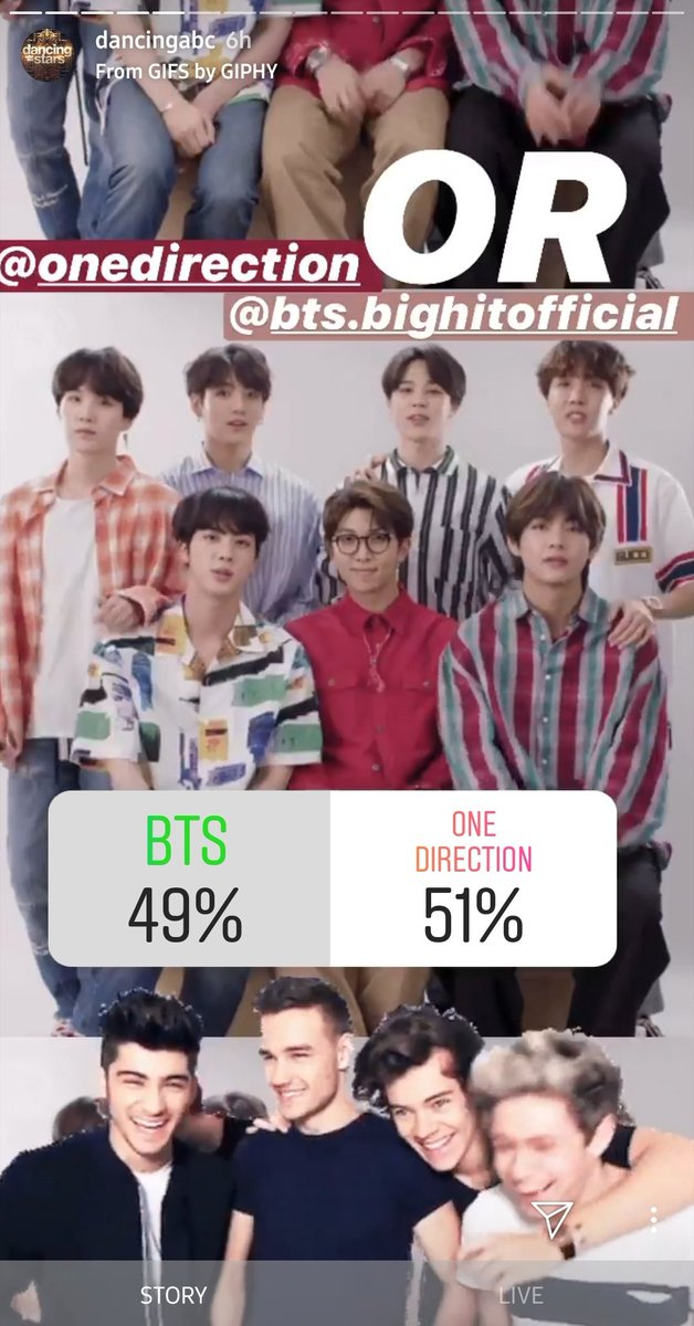 ARMY! Did you see the poll on DWTS Instagram story!?  Check it out!   https:// instagram.com/stories/dancin gabc/2174999035403231050?utm_source=ig_story_item_share&igshid=1fewty91mhbqf  …   #MAMAVOTE #BTS @BTS_twt<br>http://pic.twitter.com/IVCUi3GYZd