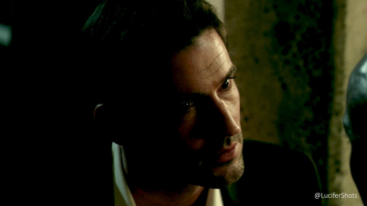 """#Lucifer   """"Lately I've been doing a fair amount of thinking. Now, do you think I'm the Devil because I'm inherently evil, or just because dear old Dad decided I was?""""    01x01 - Pilot  DP: Glen Keenan Director: Len Wiseman pic.twitter.com/hNrh4IAw0d"""