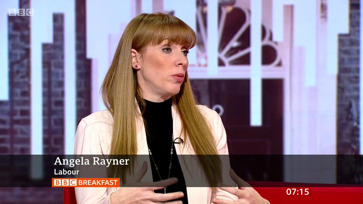 """We know there hasn't been enough investment... we've got to skill our people up""Labour's Angela Rayner says her party's plans for free retraining for adults in England ""will transform our economy for the future""http://bbc.in/2K7vwKr  #bbcbreakfast"