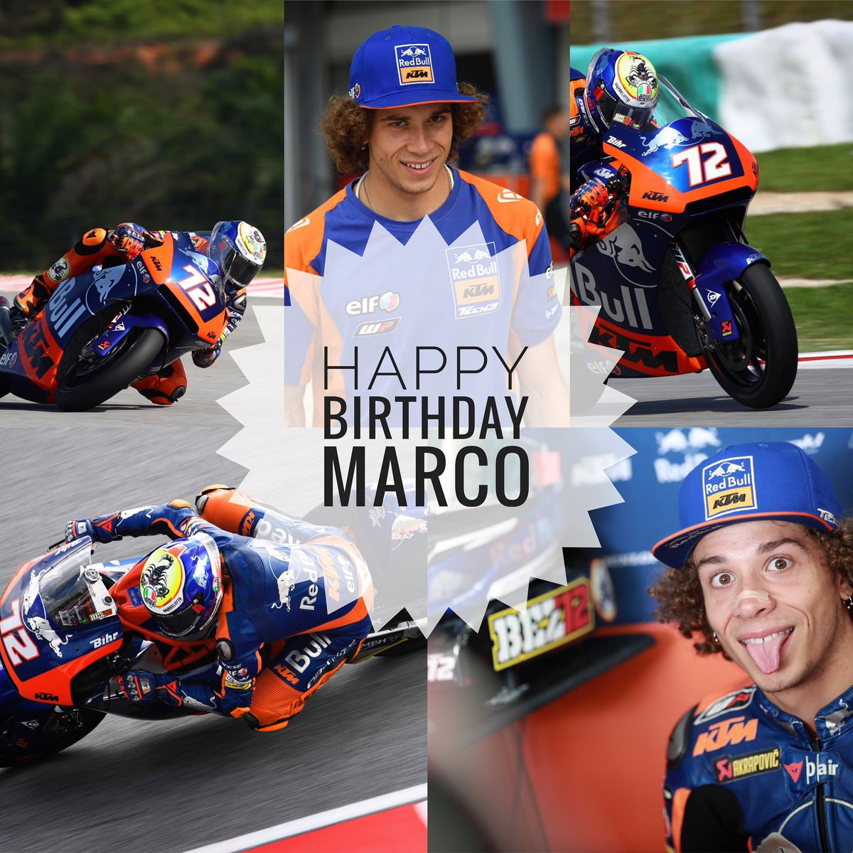 Happy Birthday Marco 🥳🎈🎂 #KTM #Tech3 #MotoGP #Moto2 #Racing #MB72 @MotoGP #HappyBirthday #BirthdayBoy #TantiAuguri