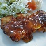 Image for the Tweet beginning: 「浦学日替わりランチ(チキンステーキ)」もちろん大盛り。    #浦学 #浦和学院