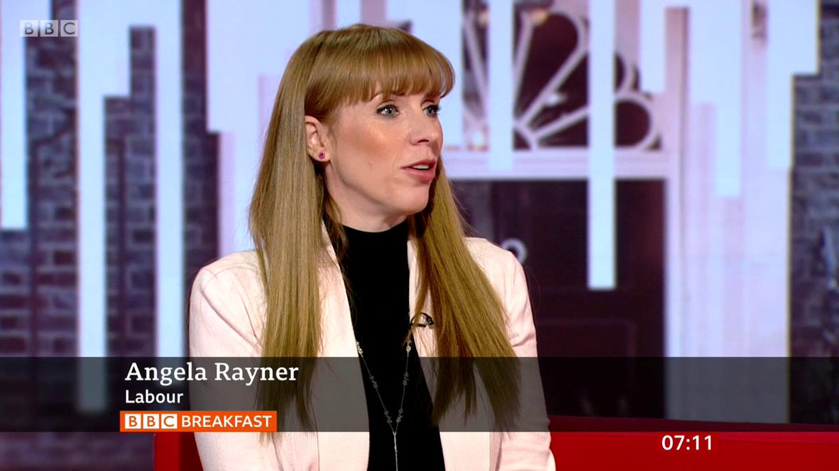 """All of a sudden, because there's a hint of a knighthood for him, he's decided he's going to allow them a free run""Labour's Angela Rayner accuses Brexit Party leader Nigel Farage of ""going into a coalition"" with the Conservativeshttp://bbc.in/32DXOCP  #bbcbreakfast"