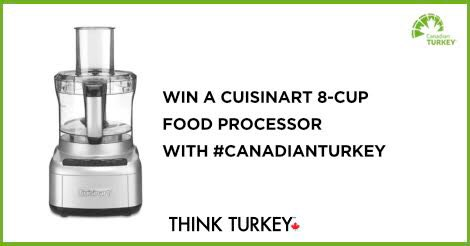 #AD The @Cdn_Turkey giveaway for November is for a Cuisinart 8-Cup Food Processor plus a bonus #CanadianTurkey apron and poultry shears. The giveaway is open to all Canadians including Quebec and ends on November 15, 2019 ENTER HERE - w.heyo.com/ac77f7