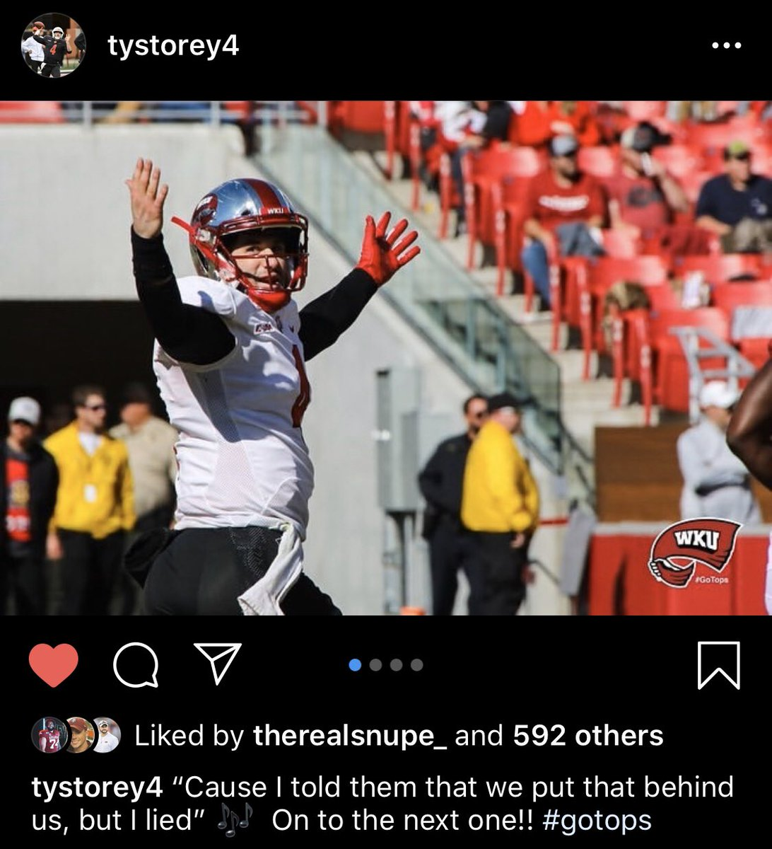 Ty Storey with the savage caption