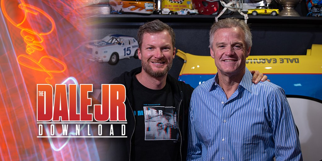 New Dale Jr. Download podcast is out with guest @Kenny_Wallace. He said it was like therapy for him to talk about his early career. Give it a listen. LISTEN: Web: bit.ly/2H17XzJ @ApplePodcasts: apple.co/2Fkf9Wd @Google: bit.ly/2Hw7l8d